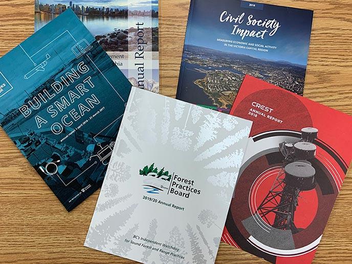 Annual Reports - samples displayed