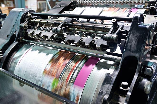 Digital Direct Printing image of high speed printing press