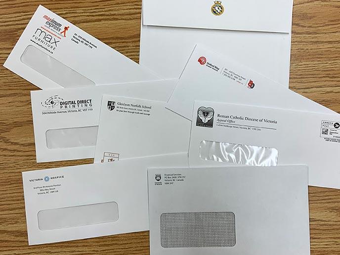 Envelopes - samples