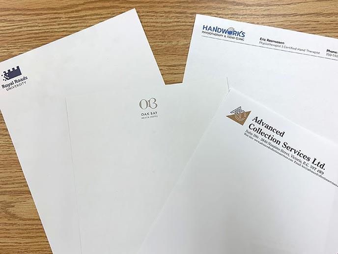Letterhead samples