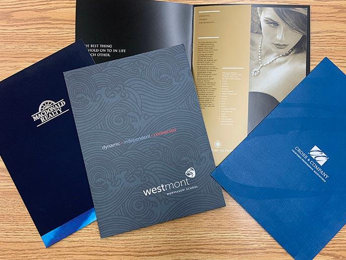 Presentation folders displayed